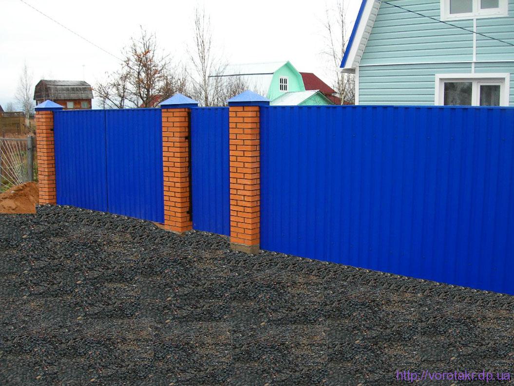 Забор в Глееватке