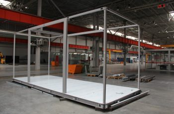 Металлический каркас модульного дома