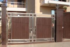 Распашные ворота из HPL панелей