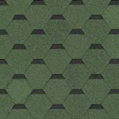 Черепица гибкая Shinglas Самба Соната зеленый уп. 3 м2